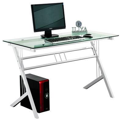 Meuble Informatique Avec Plateau En Verre Et Pied En Metal Home Decor Furniture Desk