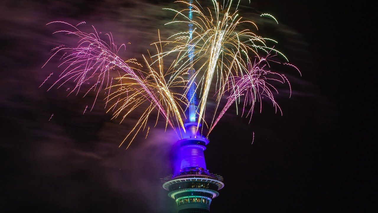 New Zealand celebrates New Year's Eve 2020 with fireworks