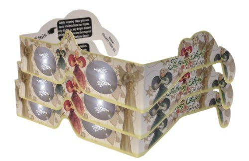 3d christmas glasses holiday specs transform christmas lights into magical messages fluttering angels