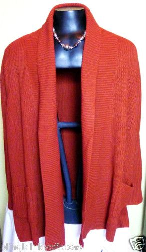Woman Within Plus Size 2X Fashion Sweater Casual Knit 100% Acrylic FALL COLOR .. BlingBlinky.com