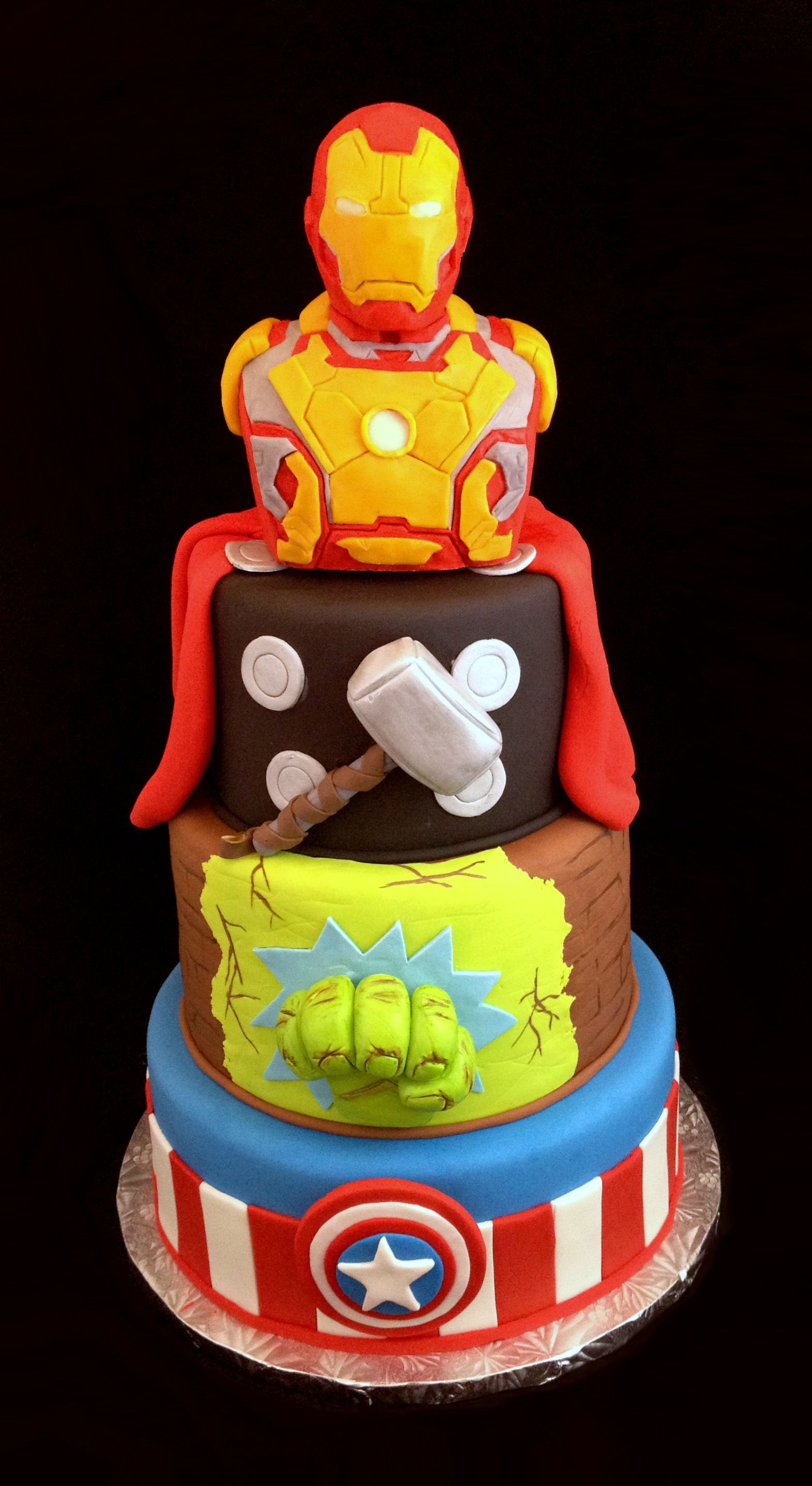 Admirable Avengers Cake A Little Extreme But Nice Detail Extreme Personalised Birthday Cards Petedlily Jamesorg
