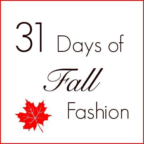 31 Days of Fall Fashion is coming soon! #fallfashion