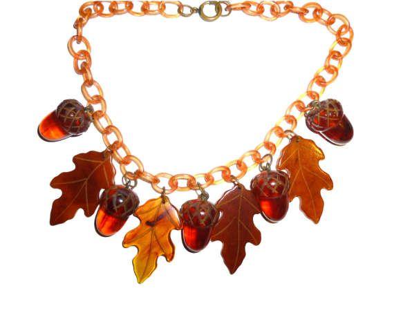 Artisan bakelite necklace
