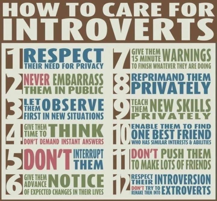 Yes. Care for your introverted friends.