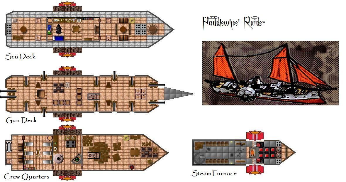 D U0026d 4th Edition Steamboat 4e Vehicle