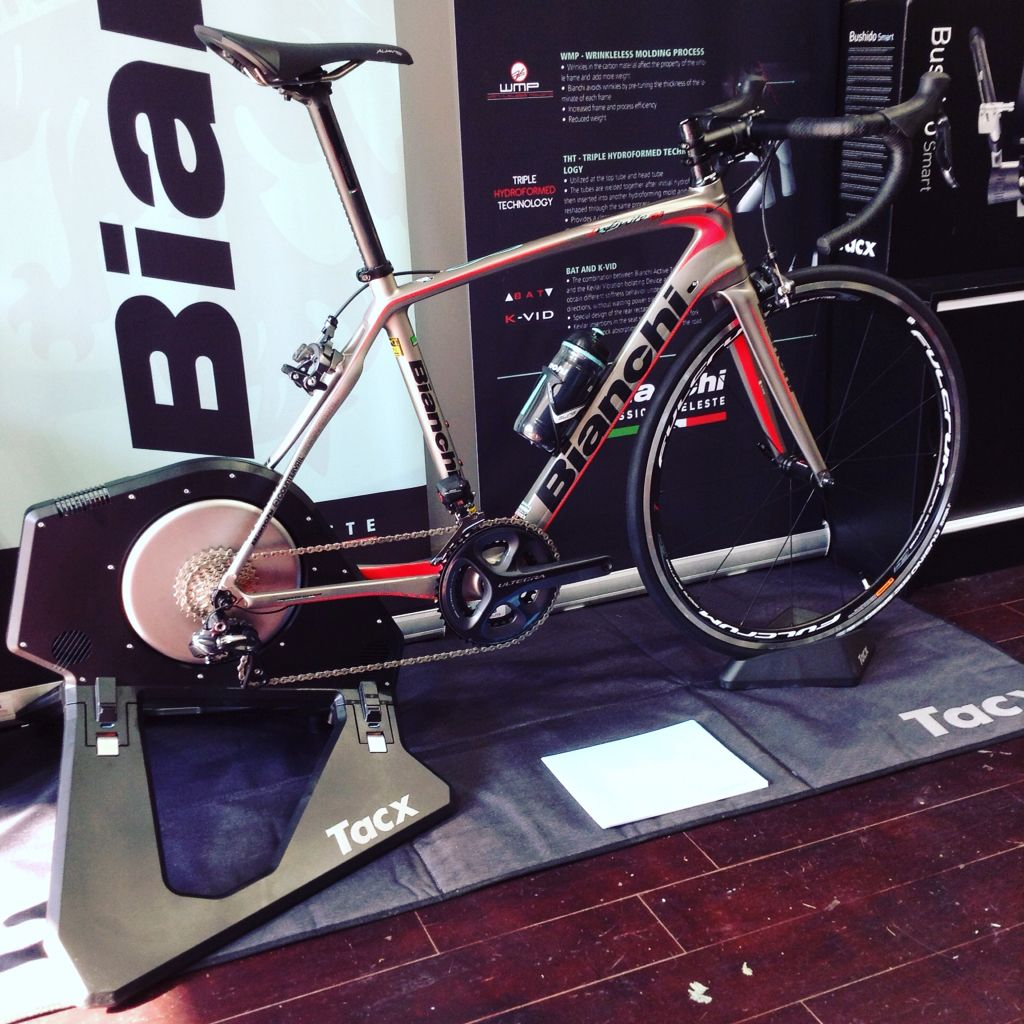 The new @tacxperience Neo Smart Trainer and Bianchi Infinito
