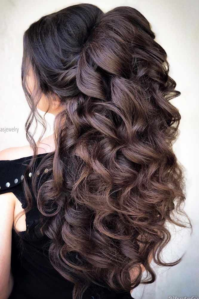 18 Nice Holiday Half Up Hairstyles for Long Hair in 2020 ...