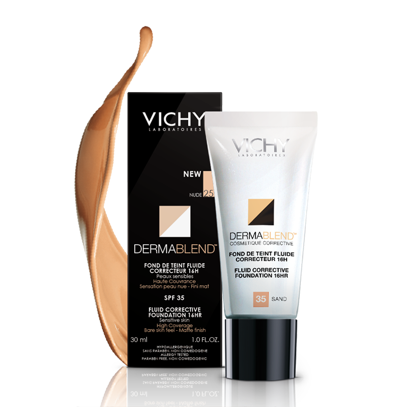 Vichy Dermablend Fluid Corrective Foundation 30ml Foundation For Sensitive Skin Vichy Dermablend