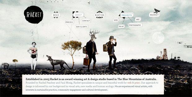 A Showcase of Grunge in Web Design web design | Grunge Website ...