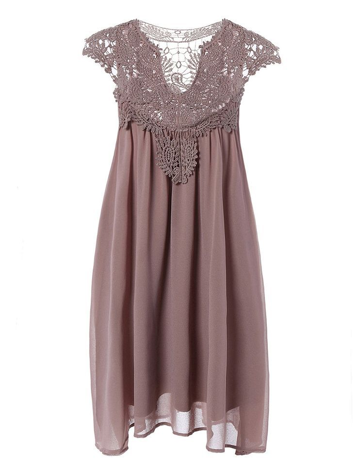** I like this Plus Measurement Hole Out Lace Spliced Mini Gown...