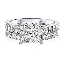 2 ct. tw. Diamond Engagement Ring Set in 14K Gold