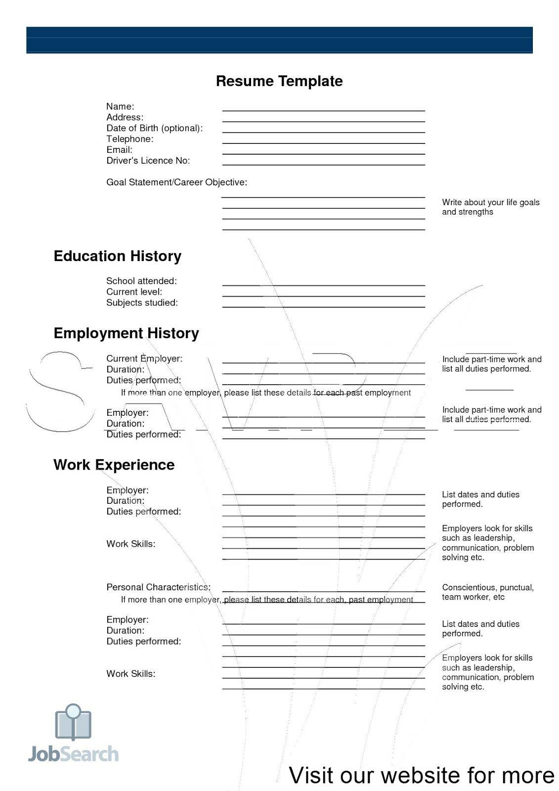 Resume Template 2020 Cv Template Free Job Resume Template Retail Resume Examples
