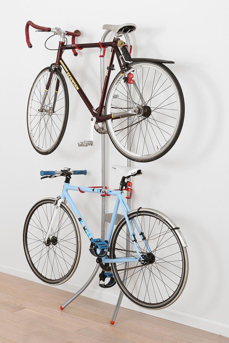 double tiered bike rack home bike storage balcony. Black Bedroom Furniture Sets. Home Design Ideas