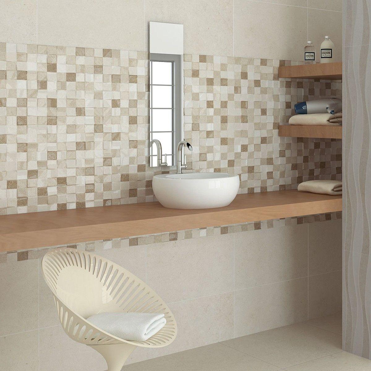 Best Kitchen Gallery: 55x33 3 Adelaide Beige Mosaic Bathroom Wall Tiles Wall Tiles of Mosaic Bathroom Tile Designs  on rachelxblog.com