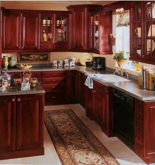 mahogany cabinets | Mahogany cabinets, Kitchen, Kitchen ...