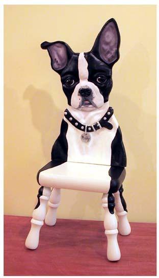 Boston terrier sculpture by PamFossCritterArt on Etsy, $395.00