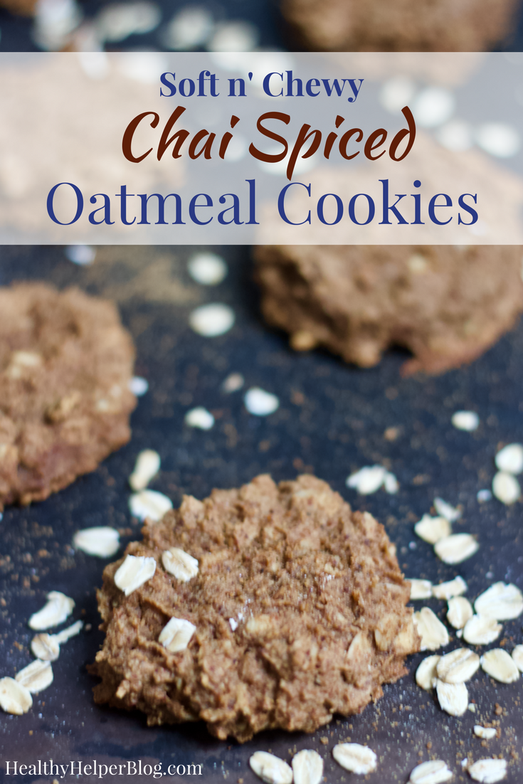 Soft n' Chewy Chai Spiced Oatmeal Cookies