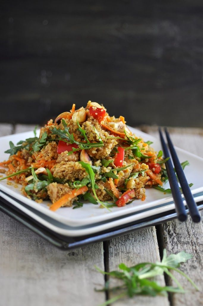 Asian-Style Chicken Quinoa Salad