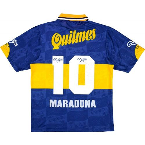 pretty nice edf81 e2e35 Boca Juniors Retro Home Shirt 1995 As worn by Maradona on ...