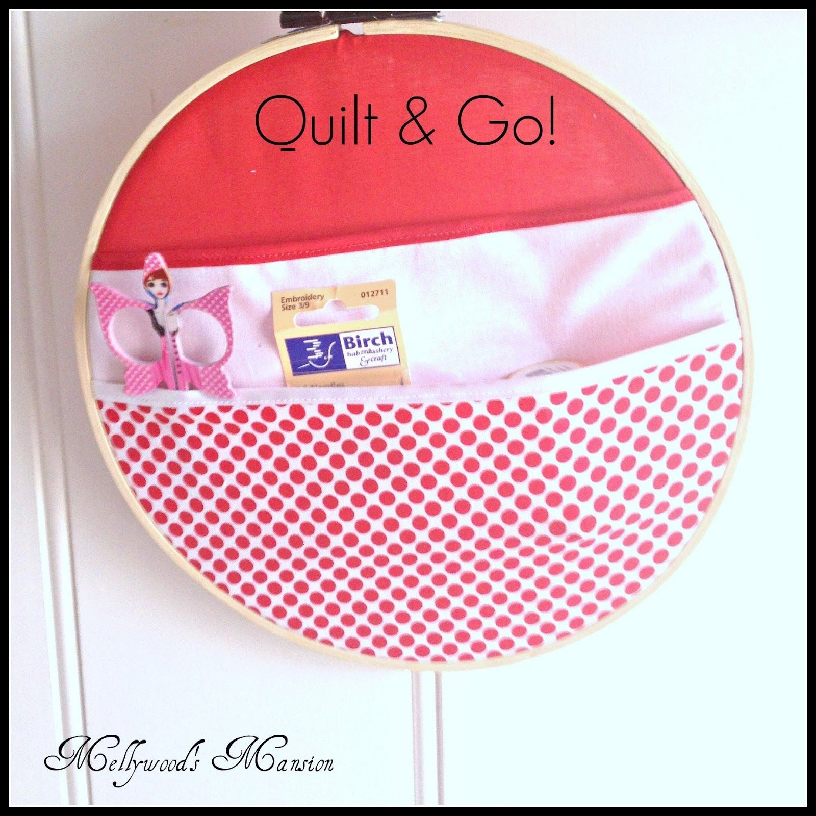 Quilt Organizer gather your latest quilt project into this little organizer and hang it up for to wait until you have a few spare minutes.