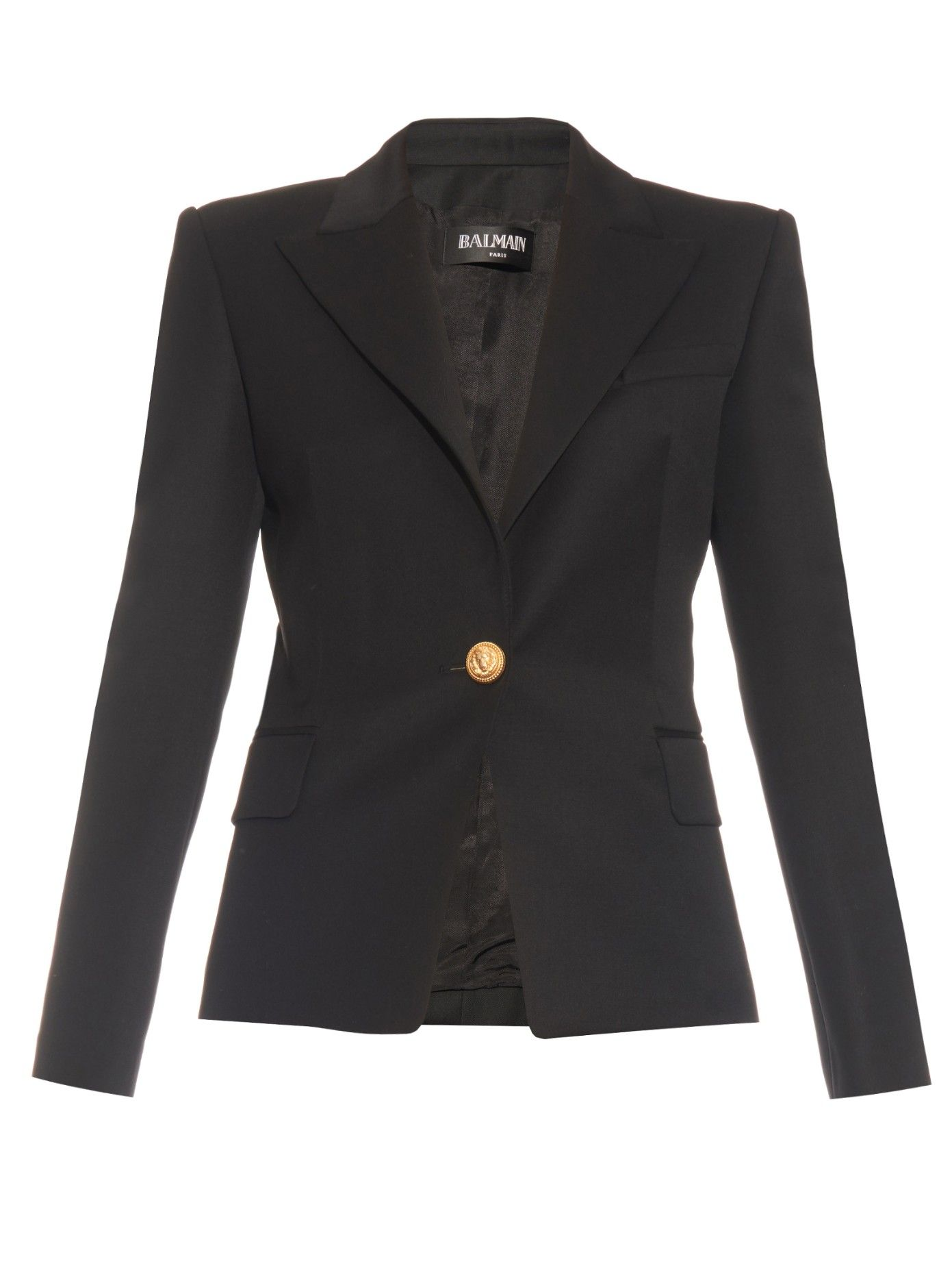 75b2dbcc86 Single-breasted wool jacket | Balmain | MATCHESFASHION.COM US | WHAT ...