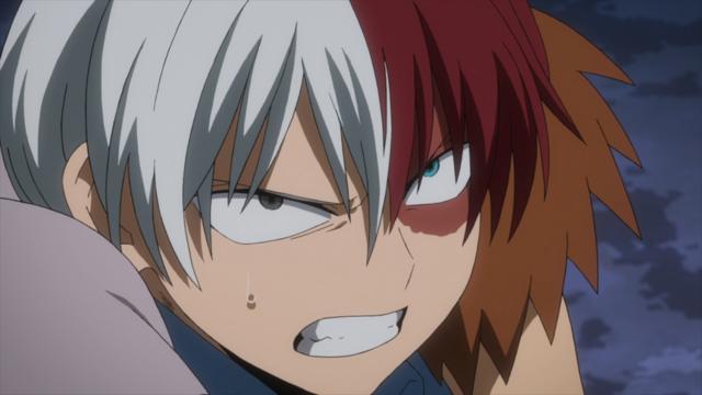 Shoto Angry With Mr Compress My Hero Academia Boku No Hero