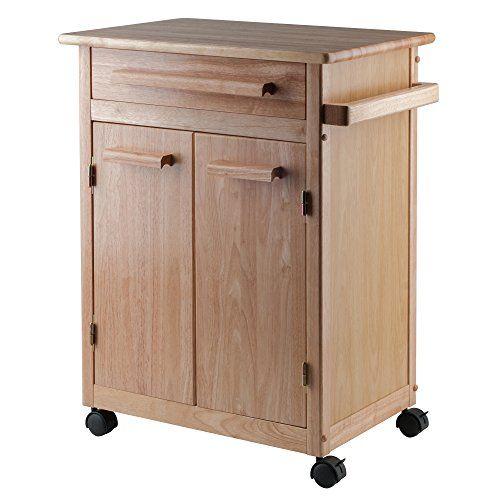 Kitchen Storage Carts | Winsome Wood Single Drawer Kitchen Cabinet Storage Cart Natural