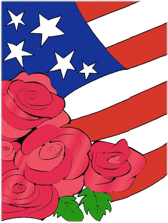 Flag Roses Patriotic by SusannaRoxanne.deviantart.com on @DeviantArt