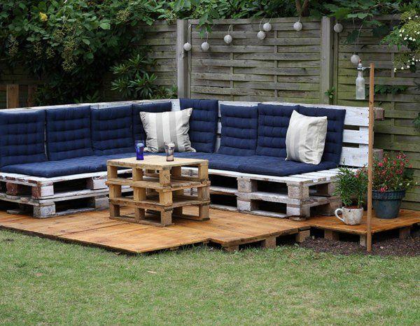Les Meilleures Idees Pour La Terrasse En Palette Meuble Jardin