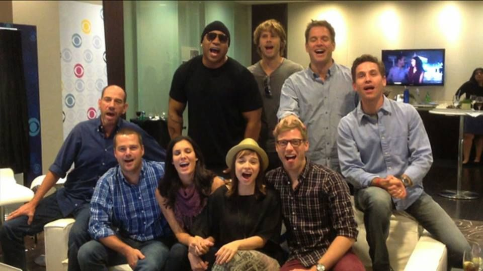 The cast of NCIS and NCIS Los Angeles wish you a very