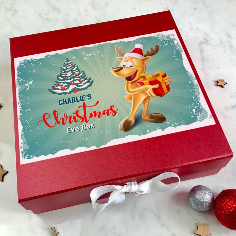 Christmas Eve Box - Happy Reindeer Christmas Eve Box Filler Ideas