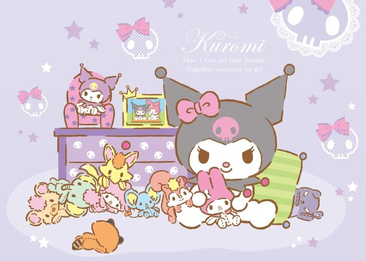 Kuromi Hello Kitty Wallpaper Sanrio Wallpaper My Melody Wallpaper