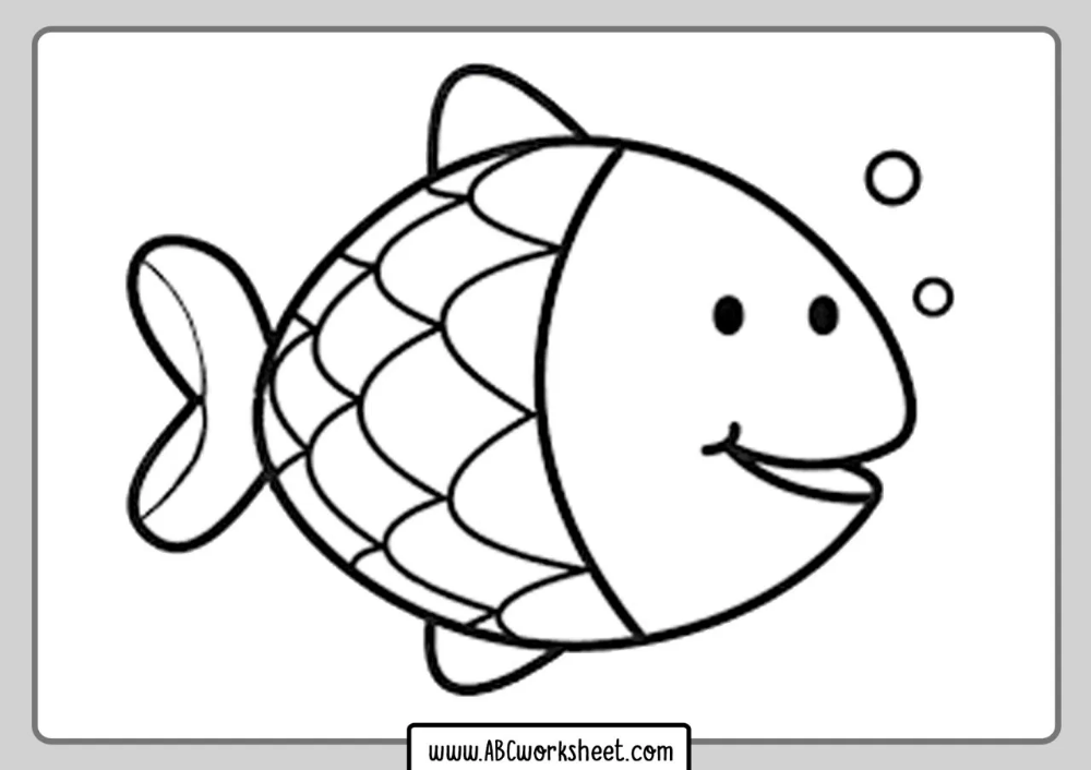 Fish Coloring Pages For Kids Abc Worksheet In 2020 Fish Coloring Page Animal Coloring Pages Coloring Pages
