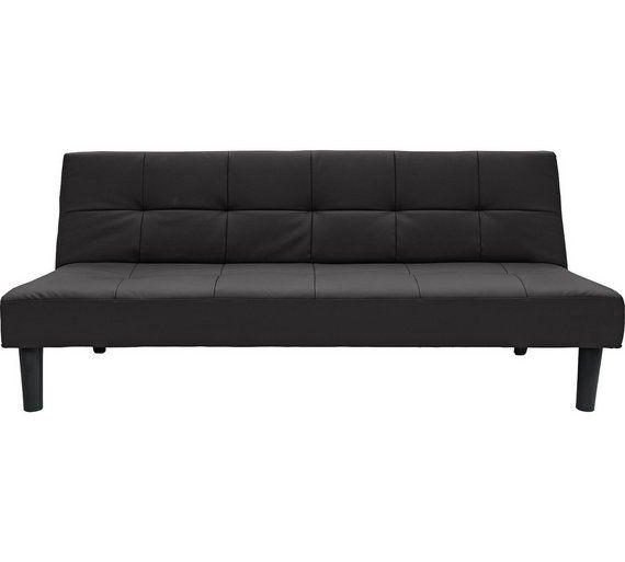 Home Patsy 2 Seater Clic Clac Sofa Bed Black At Argos Co