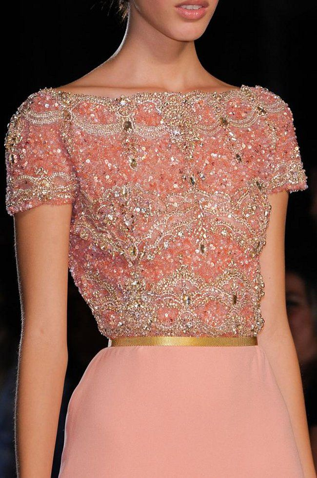 Detail from Elie Saab Fall 2012 Couture.
