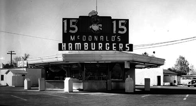 The first McDonald's hamburgers opened in San Bernardino ...
