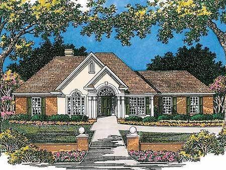 Plan 5452lk Attractive Universal Design Ranch Style House Plans Universal Design House Plans