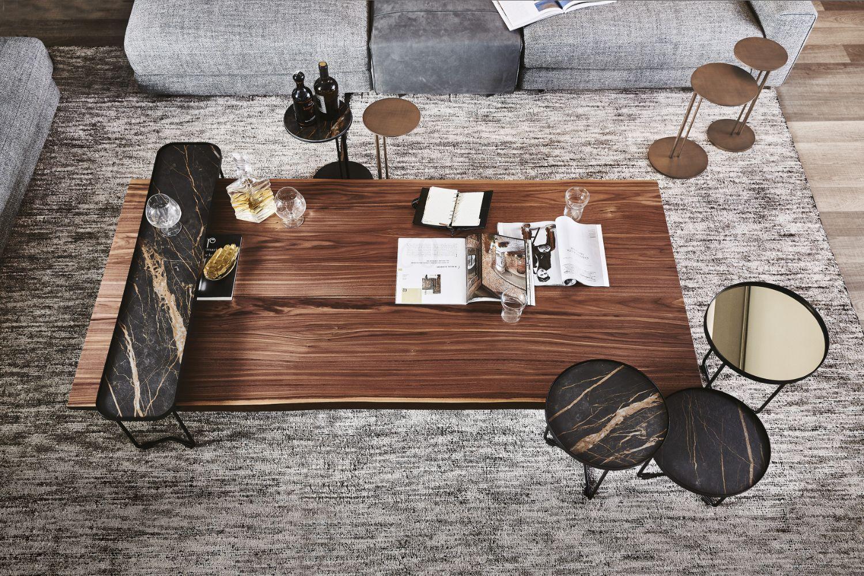 Idem Cattelan Italia Design Philip Jackson The Rectangular Coffee Table With Irregular Wood Edg Luxury Coffee Table Wood Coffe Table Solid Wood Coffee Table