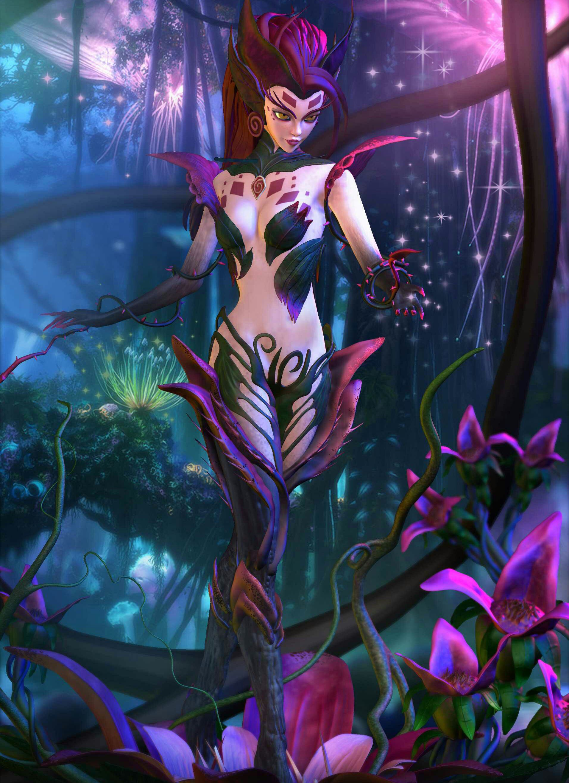 Zyra Hd Wallpapers 1920x1080 League Of Legends Coven zyra league of legends wallpaper