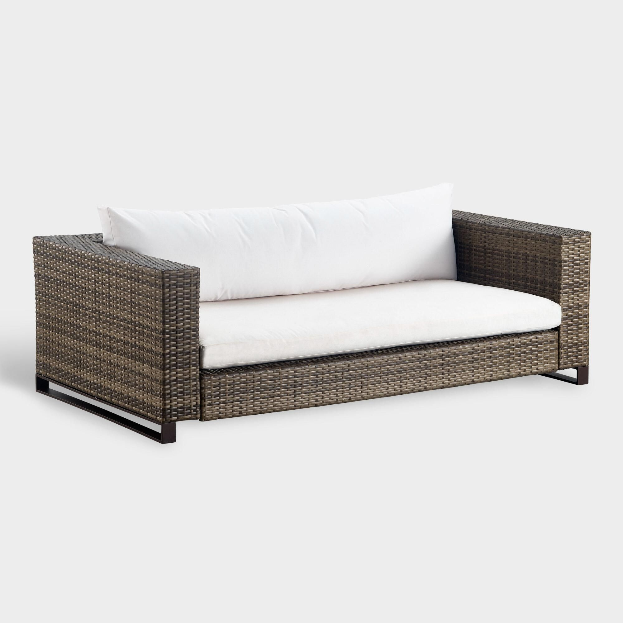 Brown All Weather Nasim Outdoor Patio Occasional Love Seat By World Market Outdoor Furniture Covers Furniture Lounge Furniture