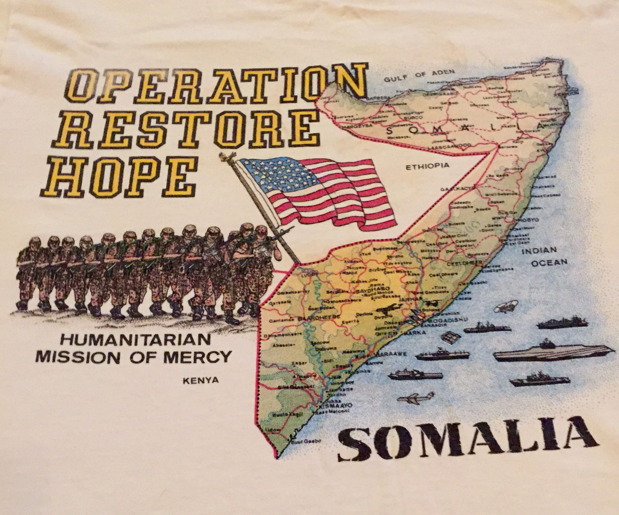 Operation Restore Hope Tshirt Somalia 1993 With Images