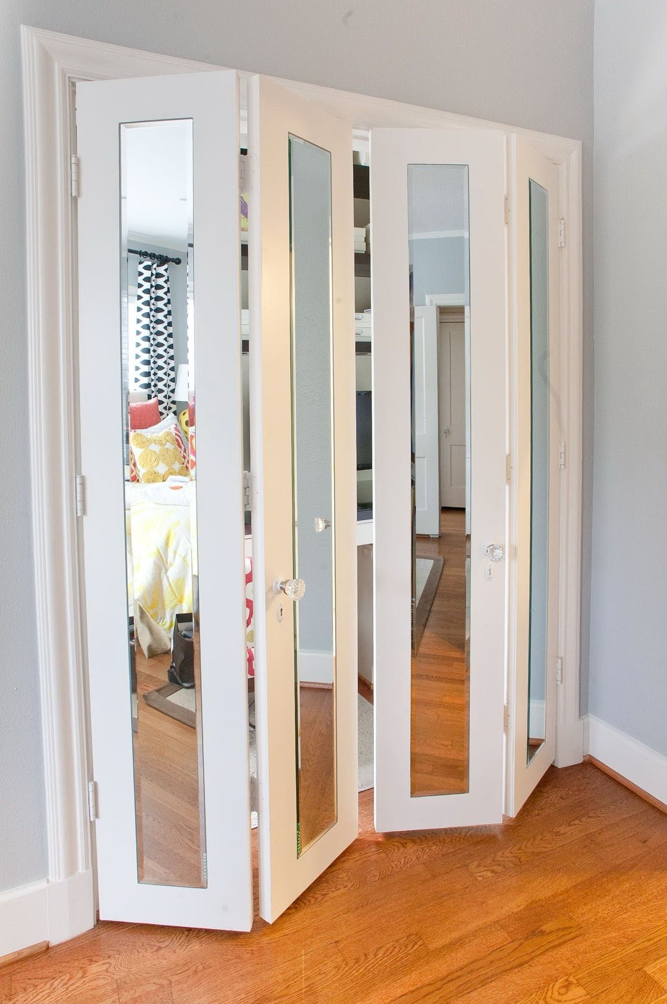Custom Size Mirrored Closet Doors