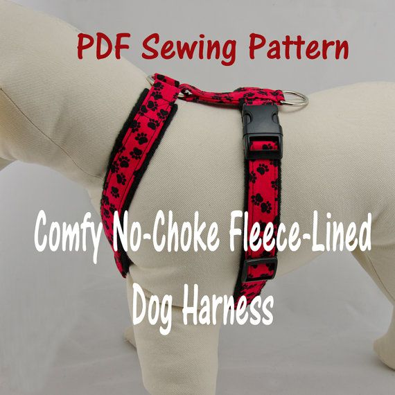 Dog Harness – no-choke and fleece-lined -- PDF Sewing Pattern on ...