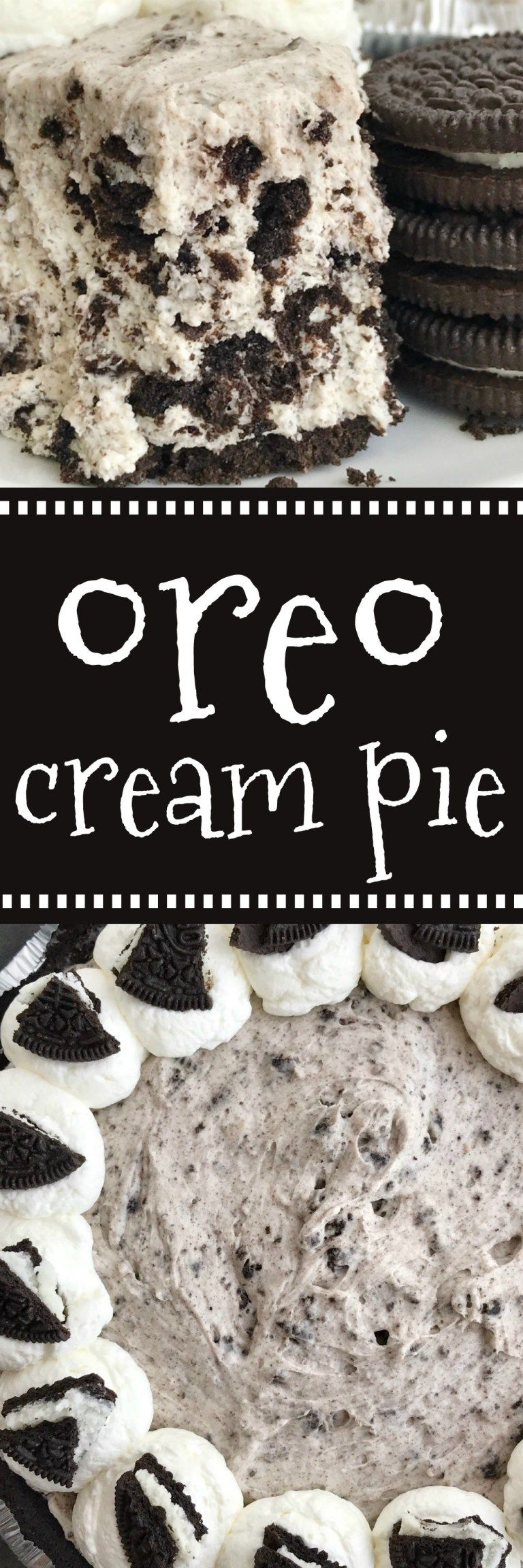 Oreo Cream Pie #sugarcreampie