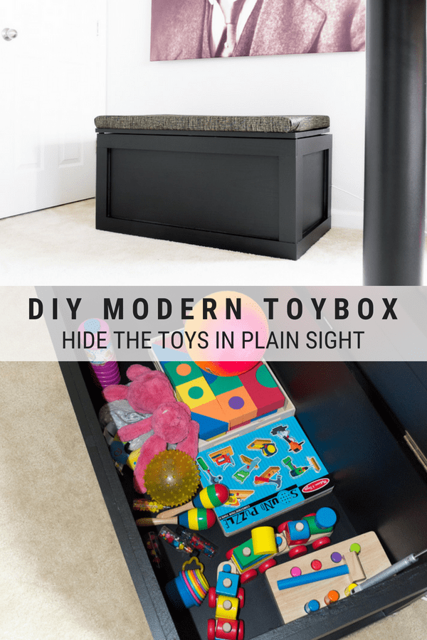How To Make A Toy Box Modern Black Toy Box Build Modern Toy