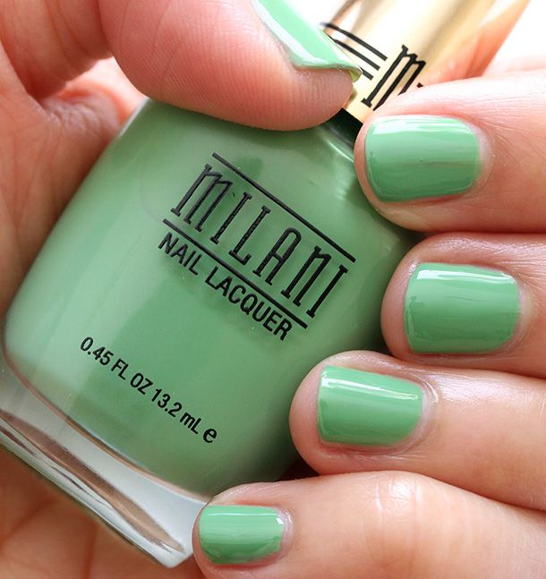 Love me some pistachio green: Milani Showy Sea-Green 01 | Nails ...