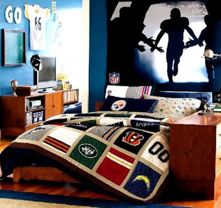 Groovy Sport Themed Boys Rooms Sports Themed Room Nfl Pennants Download Free Architecture Designs Salvmadebymaigaardcom