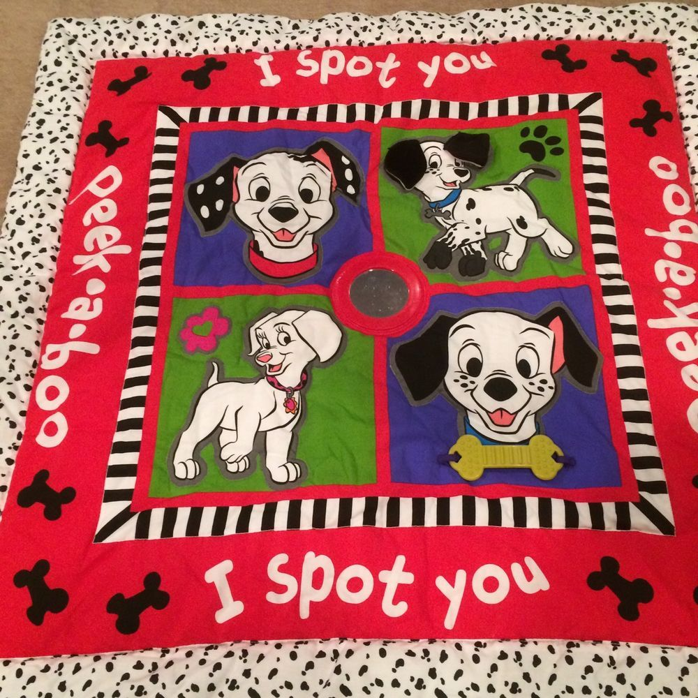 102 Dalmatians Baby Activity Blanket Comforter Peek A Boo I Spot You Tummy Time Disney Infant Activities Tummy Time Toys Itty Bitty Baby
