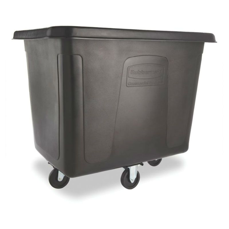 Rubbermaid Fg461600 Bla Trash Cart W 500 Lb Capacity Black Rubbermaid Commercial Products Waste Collection Rubbermaid