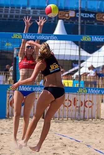 Jiba Nk Beach Volleybal 2009 L Scheveningen L Beach L Den Haag L The Hague L Dutch L The Netherland Female Volleyball Players Women Volleyball Beach Volleyball